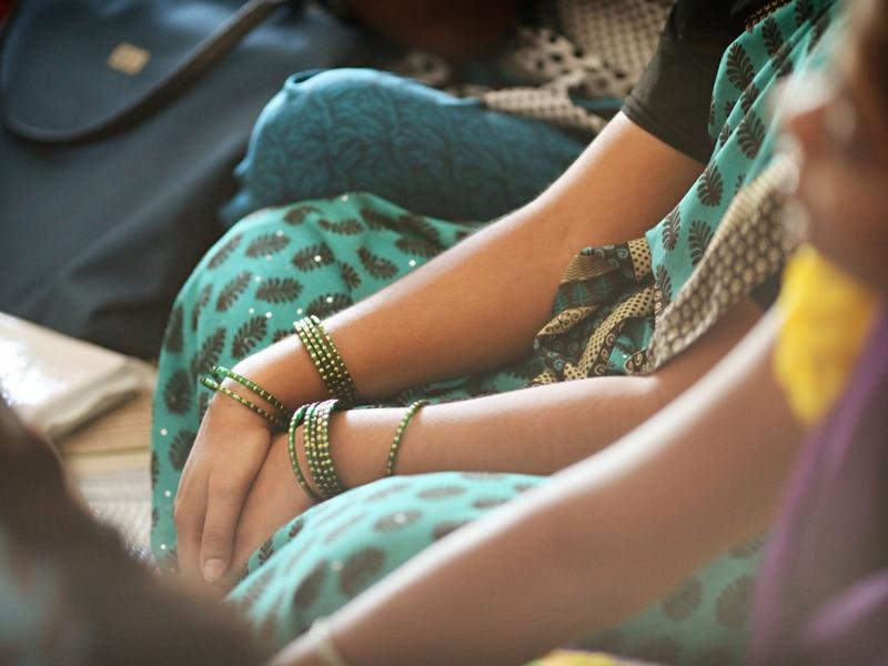 hands of indian girl